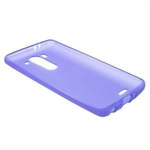 Fialový matný gélový kryt LG G3 s - 3