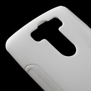 S-line biely gélový obal na LG G3 s - 3