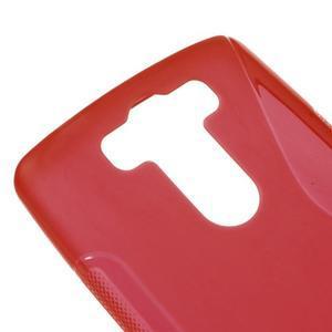 S-line červený gélový obal na LG G3 s - 3