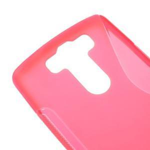 S-line rose gélový obal pre LG G3 s - 3