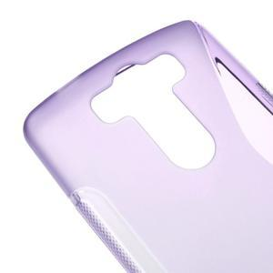 S-line fialový gélový obal pre LG G3 s - 3