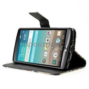 Zapínací peňaženkové puzdro pre LG G3 s - květina mandala - 3