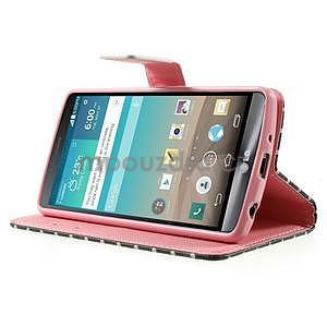 Zapínací peňaženkové puzdro pre LG G3 s - soví rodinka - 3