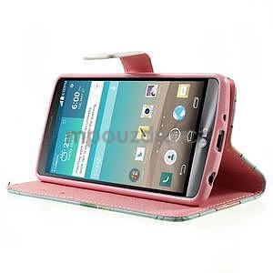 Zapínací peňaženkové puzdro pre LG G3 s - ptáček - 3