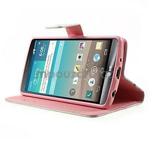 Zapínací peňaženkové puzdro pre LG G3 s - love - 3