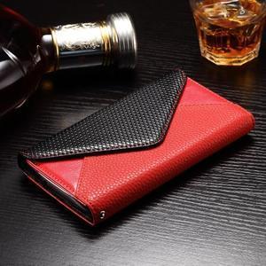 Enlop peněženkové pouzdro na LG G4 - červené/černé - 3
