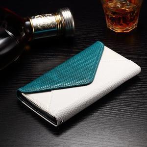 Enlop peněženkové pouzdro na LG G4 - modré/bílé - 3