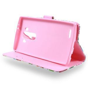 Call peňaženkové puzdro pre LG G4 - malej sovy - 3