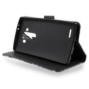 Call peňaženkové puzdro pre LG G4 - modrý motýľ - 3