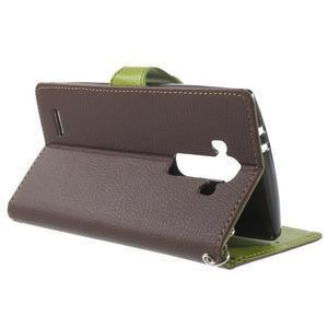 Leaf peněženkové pouzdro na mobil LG G4 - hnědé - 3
