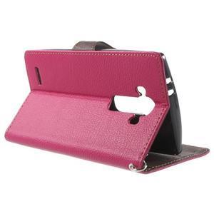 Leaf peňaženkové puzdro pre mobil LG G4 - rose - 3