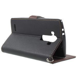Leaf peněženkové pouzdro na mobil LG G4 - černé - 3