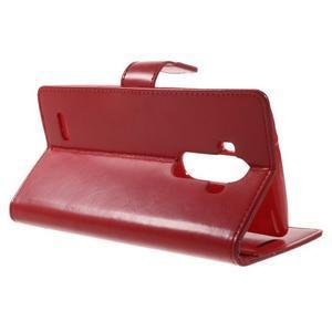 Luxury PU kožené pouzdro na mobil LG G4 - červené - 3