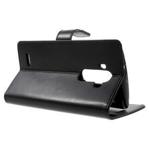 Luxury PU kožené pouzdro na mobil LG G4 - černé - 3