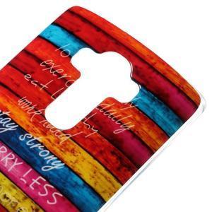 Jells gélový obal pre mobil LG G4 - farby dreva - 3
