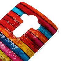 Jells gélový obal pre mobil LG G4 - farby dreva - 3/5