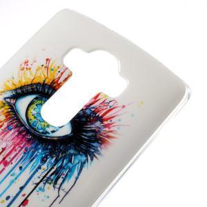Jells gélový obal pre mobil LG G4 - farebné oko - 3