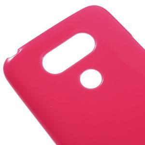 Lesklý gélový obal pre mobil LG G5 - rose - 3