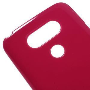 Lesklý gélový obal pre mobil LG G5 - červený - 3