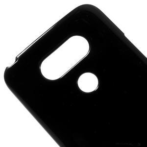 Lesklý gélový obal pre mobil LG G5 - čierny - 3