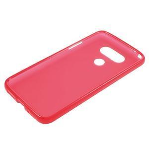 Matný gelový kryt na mobil LG G5 - červený - 3