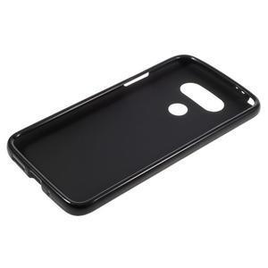 Matný gélový kryt pre mobil LG G5 - čierny - 3
