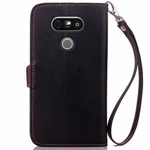 Leaf PU kožené puzdro pre LG G5 - čierne - 3