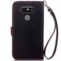 Leaf PU kožené pouzdro na LG G5 - černé - 3/7