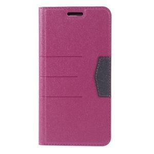 Klopové peneženko puzdro pre LG G5 - rose - 3