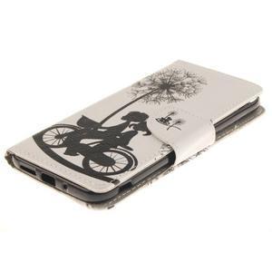 Obrázkové koženkové puzdro pre LG G5 - láska na bicykli - 3