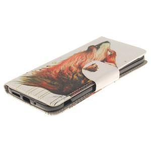 Obrázkové koženkové puzdro pre LG G5 - vlk - 3