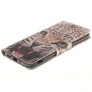 Obrázkové koženkové pouzdro na LG G5 - leopard - 3