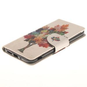 Obrázkové koženkové puzdro pre LG G5 - farebný strom - 3