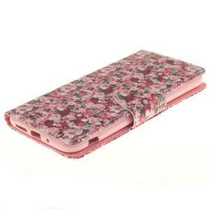 Obrázkové koženkové puzdro pre LG G5 - růže - 3