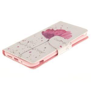 Obrázkové koženkové puzdro pre LG G5 - mak - 3