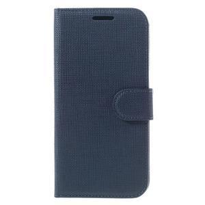 Cloth koženkové peňaženkové puzdro pre LG G5 - tmavomodré - 3
