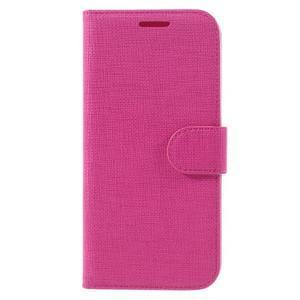 Cloth koženkové peňaženkové puzdro pre LG G5 - rose - 3