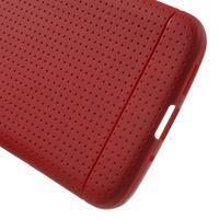 Rubby gélový kryt pre LG G5 - červený - 3/5