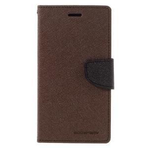 Goos stylové PU kožené pouzdro na LG G5 - hnědé - 3