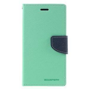 Goos stylové PU kožené pouzdro na LG G5 - cyan - 3