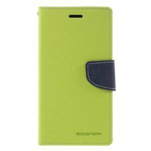 Goos stylové PU kožené puzdro pre LG G5 - zelené - 3