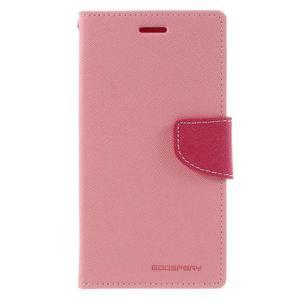 Goos stylové PU kožené puzdro pre LG G5 - ružové - 3