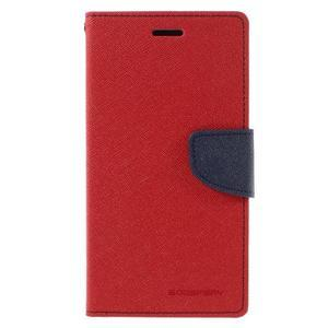 Goos stylové PU kožené puzdro pre LG G5 - červené - 3