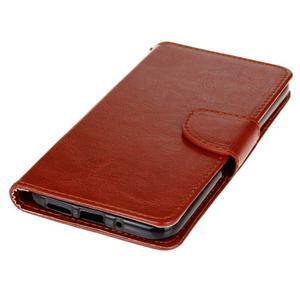 Lees peňaženkové puzdro pre LG G5 - hnedé - 3