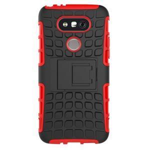Outdoor odolný obal pre mobil LG G5 - červený - 3