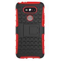 Outdoor odolný obal pre mobil LG G5 - červený - 3/5
