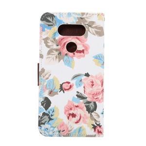 Kvetinové puzdro pre mobil LG G5 - biely vzor - 3