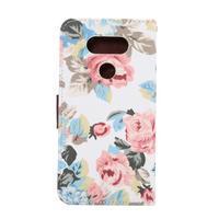 Kvetinové puzdro pre mobil LG G5 - biely vzor - 3/7