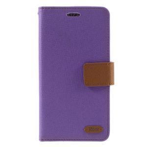 Diary PU kožené puzdro pre mobil LG G5 - fialové - 3