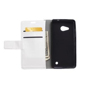 GX koženkové puzdro pre mobil Microsoft Lumia 550 - biele - 3
